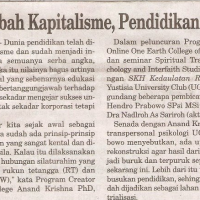 Dirambah Kapitalisme, Pendidikan Rusak (Kedaulatan Rakyat 11 September 2011)